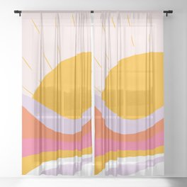 laurel canyon sunrise Sheer Curtain