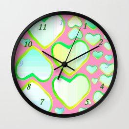 Coeur de printemps Wall Clock