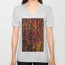 The Circus- Neon Abstract  Unisex V-Neck