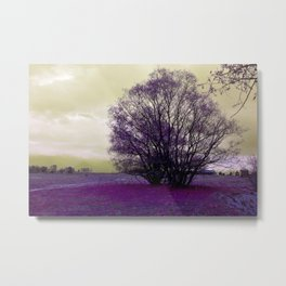 landscape in purple Metal Print