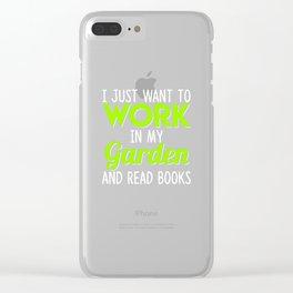 garden gardener flowers plants garden Clear iPhone Case