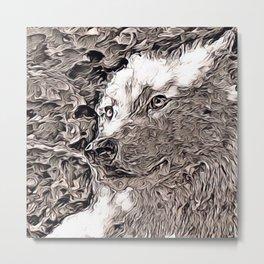 Rustic Style - Wolf Metal Print
