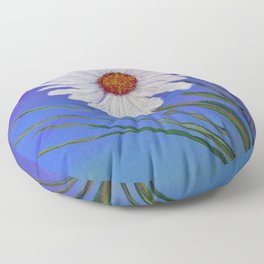 White daisy -2 Floor Pillow
