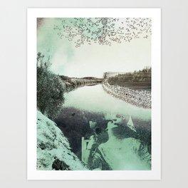 Border Embrace Art Print