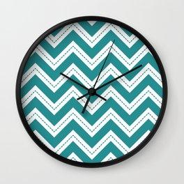 Turquoise Chevron Wall Clock