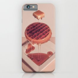 WAFFLE BUTTER AND SYRUP iPhone Case
