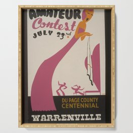 Vintage American WPA Poster - Amateur contest - Du Page County centennial, Warrenville (1939) Serving Tray