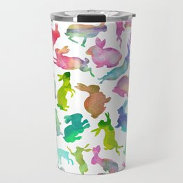 Watercolour Bunnies Travel Mug