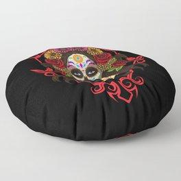 Santa Muerte - La Calavera Catrina - Sugar Skull Floor Pillow