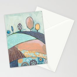 Jelly Bean Trees In A Field Stationery Cards