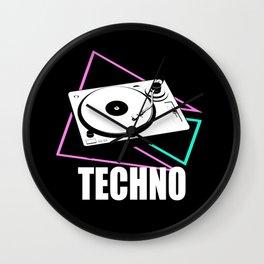 Techno music  Wall Clock