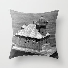 Sturgeon Bay Canal North Pierhead Lighthouse Throw Pillow