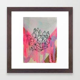crystal/valley Framed Art Print