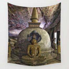 Temple within a cave Wall Tapestry