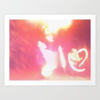Fire lady Art Print