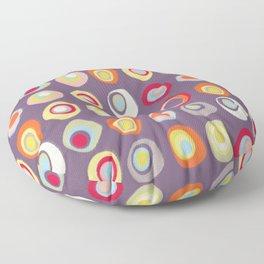 Atomic Circles   Mid Century Modern Style Floor Pillow