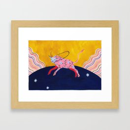 The Homesick Taurus Looking for A Home Framed Art Print