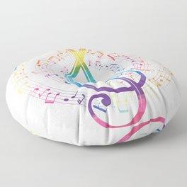 Harmony Music Clef Floor Pillow