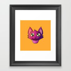 Super Kawaii Neko Muffin Framed Art Print