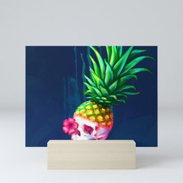 Pineapple Skull Mini Art Print
