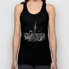 Panorama of Berlin with TV-tower Unisex Tank Top