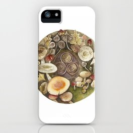 Mushroom circle with a Triskel iPhone Case