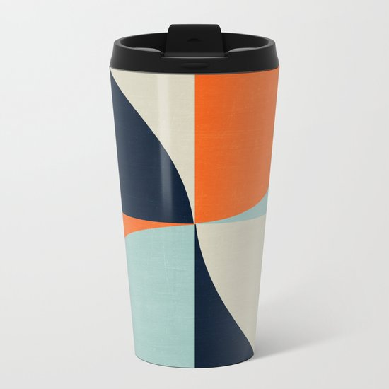 mod petals Metal Travel Mug