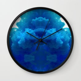 blue cloud Wall Clock