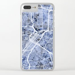 Houston Texas City Street Map Clear iPhone Case