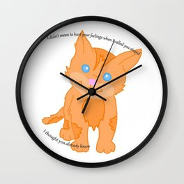 Cat called you stupid Wall Clock