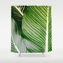 Big Leaves - Tropical Nature Photography Shower Curtain