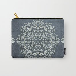 Mandala Vintage Ivory Blue Carry-All Pouch