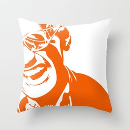 Ray Charles – Orange Throw Pillow