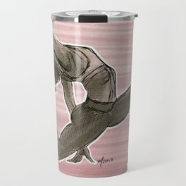 backbending badass // yoga drawing Travel Mug