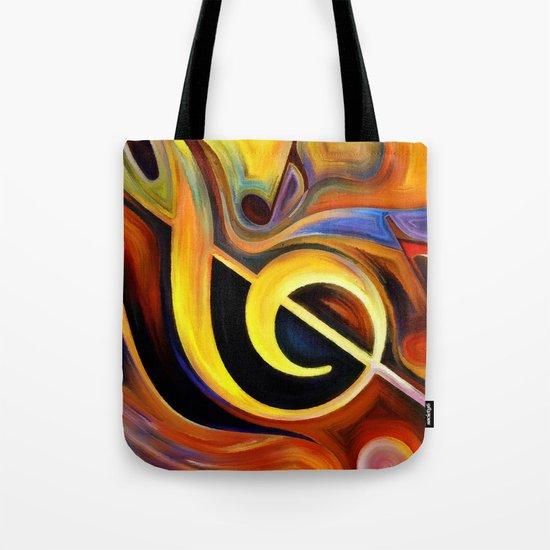 music, painting Tote Bag