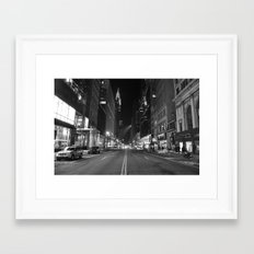 Empty 42nd Street Framed Art Print