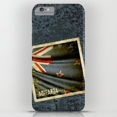 Grunge sticker of New Zealand flag iPhone 6 Plus Slim Case