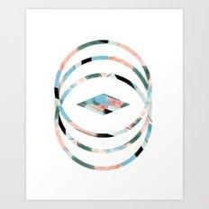 Abstract Brushstroke Circles Art Print