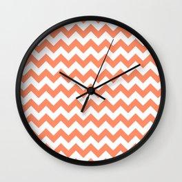 Peach Small Chevron Wall Clock