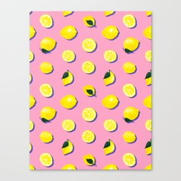 Pink Lemon ~ 80's Pattern Canvas Print