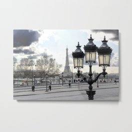 Parisian Mosaic - Piece 17 - Blue Day Metal Print