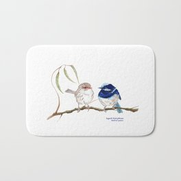 Fairy Blue Wrens Bath Mat