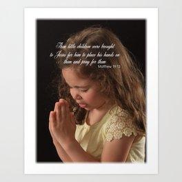 Matthew 19:13 Art Print