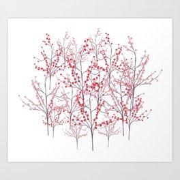 berry brambles Art Print
