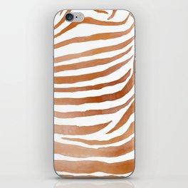 Copper Zebra Pattern iPhone Skin