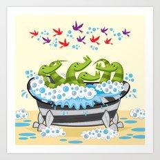 Crocodile Soup Art Print