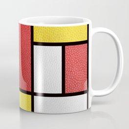 Mondrian in a Leather-Style Coffee Mug