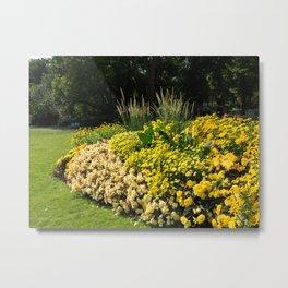 Yellow Flower sity design in park, Stockholm Metal Print