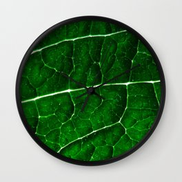 LEAF STRUCTURE GREENERY no2 Wall Clock