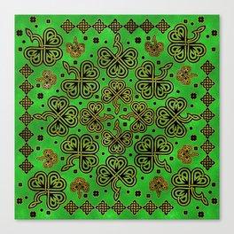 Shamrock Clover Celtic Ornament Canvas Print